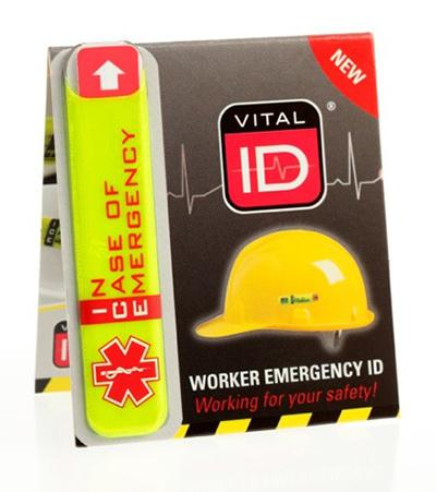 Vital Id Range - Emergency Id Standard (Ice) Pk25