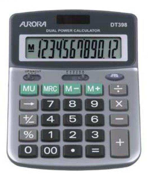 Aurora Semi-Desk Calculator 12 Digit DT398