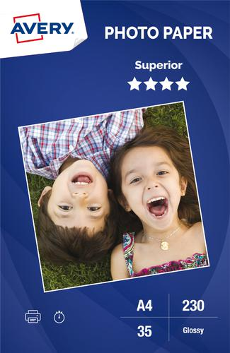 Photo Paper Superior Glossy 230gsm, A4, Inkjet