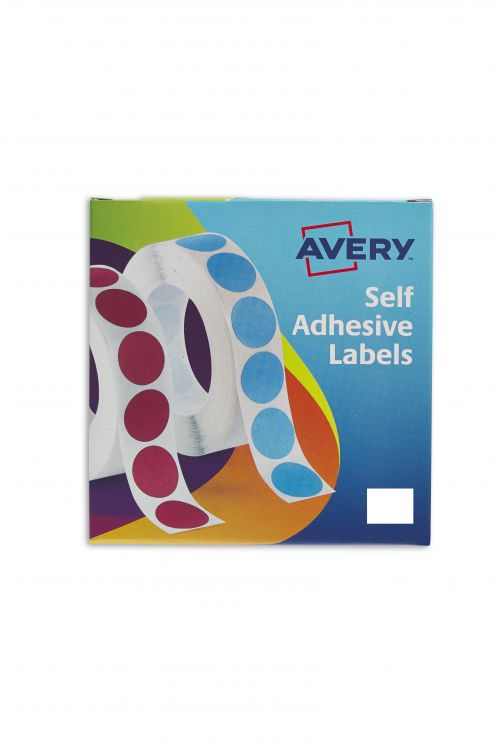 Avery Labels in Dispensers 19x25mm White 24-421 (1200Labels)