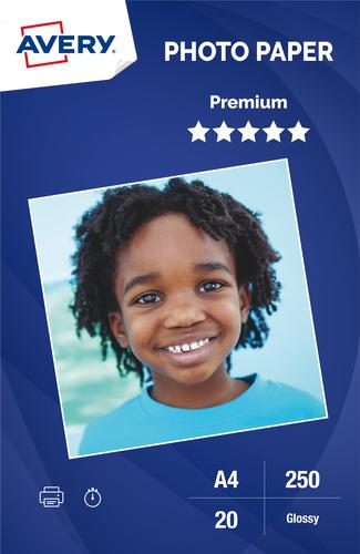 Photo Paper Premium Glossy 250gsm, A4, Inkjet