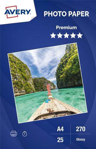 Photo Paper Premium Glossy 270gsm, A4, Inkjet