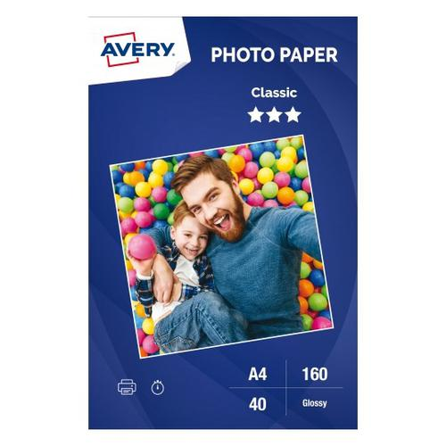Photo Paper Classic Glossy ,180 gsm, A4, Inkjet