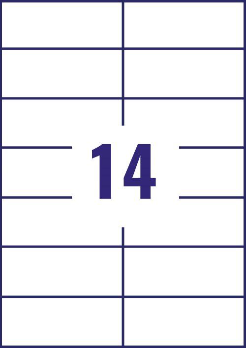 Avery Ultragrip Multi Labels 105x42.3mm 14 Per Sheet White (Pack of 1400) 3653 Address Labels AV81523