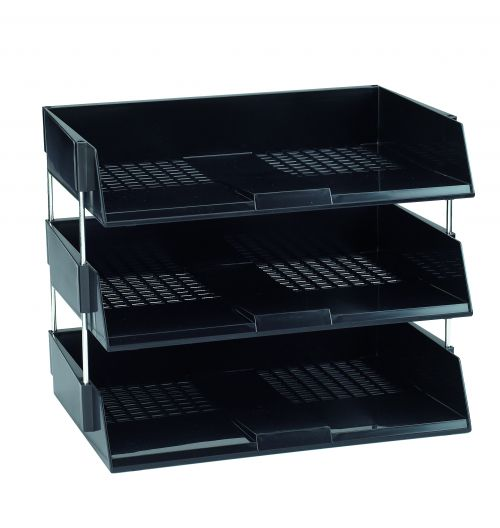Avery Letter Tray Risers 118mm Black (Pack of 4) 404B-118