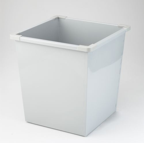 Avery Steel Bin Square 27L Grey 631LGRY