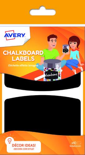 10 Chalkboard labels, size: 95 x 63 mm
