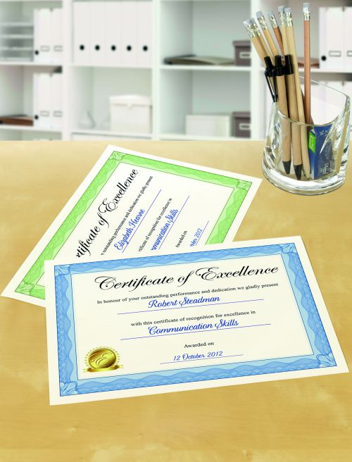 Avery C2425 Certificate Paper, 210 x 297 mm, Labels Per Sheet, 10 Labels Per Pack