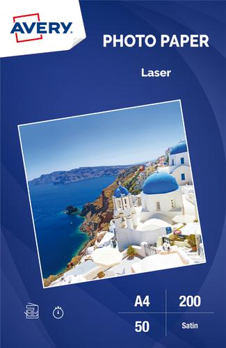 Photo Paper Laser Satin 200gsm, A4, Inkjet
