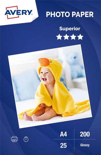 Photo Paper Superior Glossy 200gsm, A4, Inkjet