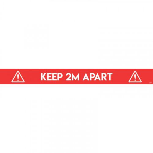 Avery Covid19 Red Social Distance Floor Sticker 100x14mm Pk2