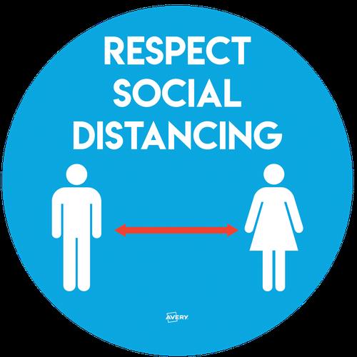 Avery COVID-19 Social Distancing Circular Label Ø275mm, 2 per pack