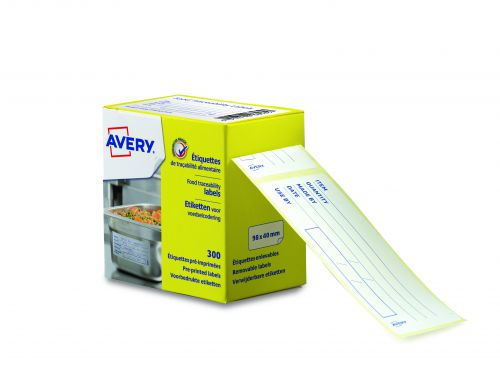 Avery ETIHACCP Food Traceability Labels, 98 x 40mm, Permanent, 300 Labels Per Roll, 300 Labels Per Pack