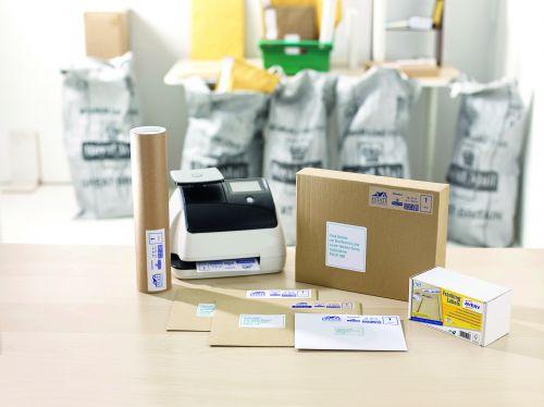 Avery Franking Label 140x38mm 1 Per Sheet Kraft Brn (Pack of 500) FL17 AV08723