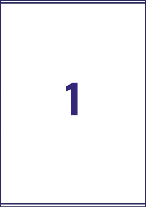 Avery Quick DRY Parcel Labels Inkjet 1 per Sheet 199.6x289.1mm White Ref J8167-100 [100 Labels]
