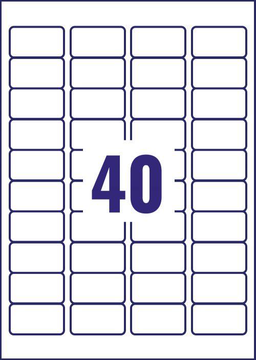 Avery Inkj Mini Label 45.7x25.4mm 40 Per Sheet (Pack of 1000) J8654-25