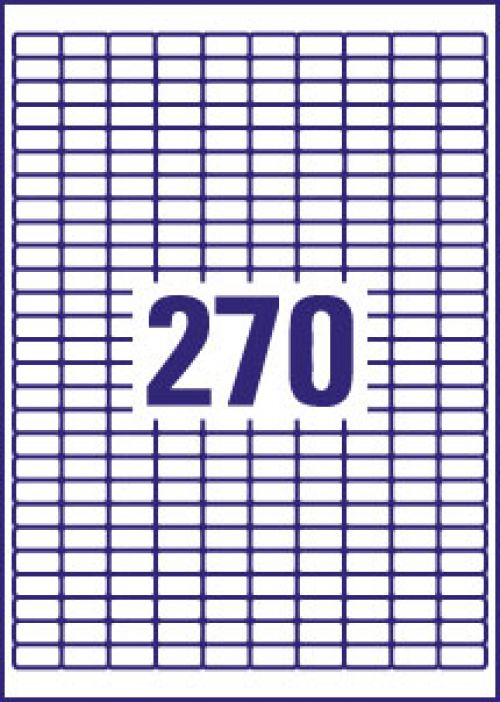 Avery Inkjet Mini Labels 270 Per Sheet White (Pack of 6750) J8659-25