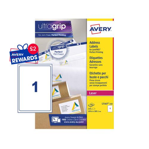 Avery Ship Labels 200x289mm L7167-250 1 Per Sheet PK250