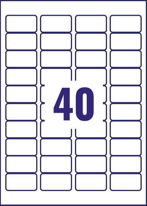 Avery Crystal Clear Laser Labels 40 per Sheet 45.7x25.4mm Transparent 1000 Labels Pack 25 Small Labels LA1257