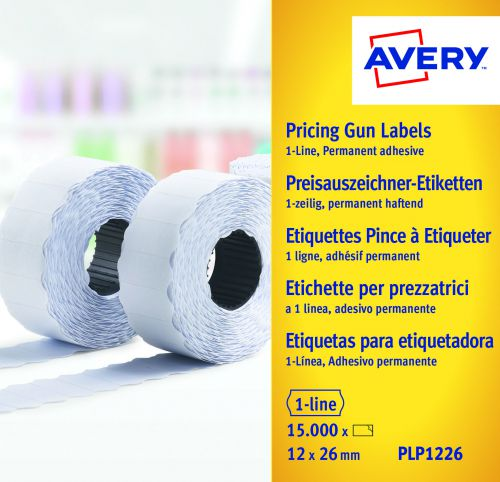 Avery 1-Line Permanent Label 12 x 26mm White (Pack of 15000) WP1226