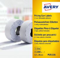 Avery Single-Line Price Marking Label 12x26mm Wht(Pack of 15000)WR1226