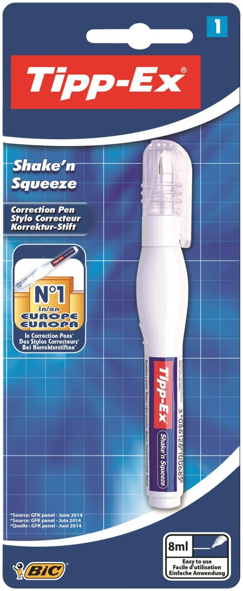 TippEx Shake n Squeeze Pen 8ml card Bx10