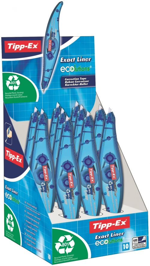Tipp-Ex Exact Liner Ecolutions Box of 10