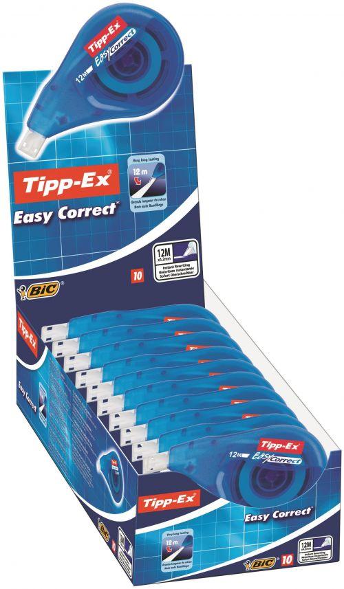 Bic Tipp-Ex EasyCorrect Correction Roller Tape White PK10