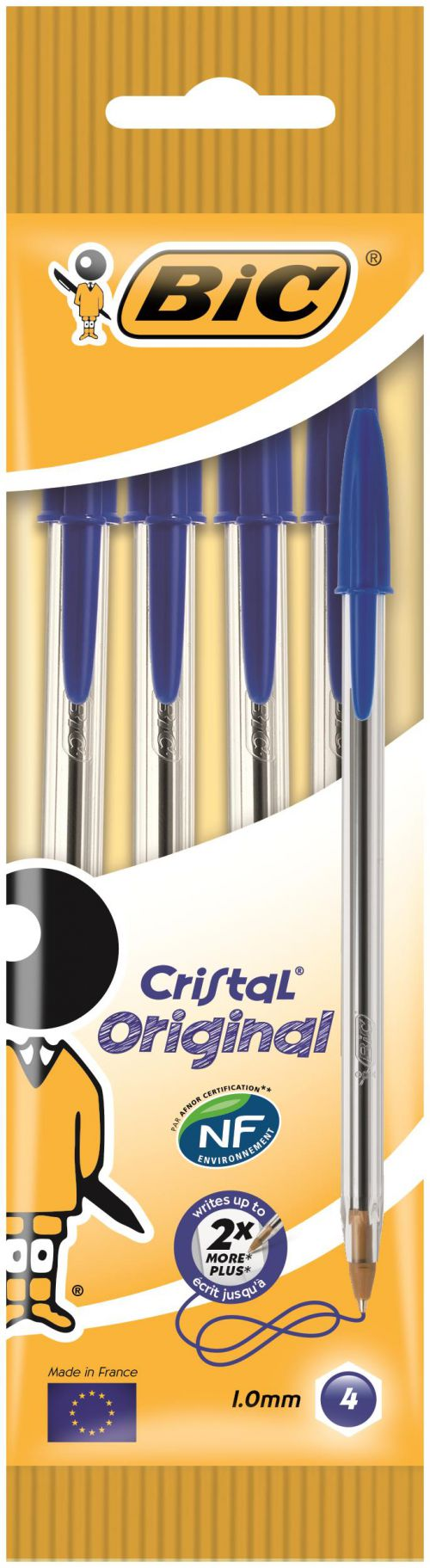 Bic Cristal Medium Ballpoint Pen Medium Blue (Pack of 40) 8308601