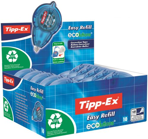 Tipp-Ex Easy Refill Ecolutions Correction Roller (Pack of 10) 8794243