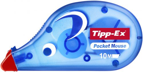 Tipp-Ex Pocket Mouse Correction Tape Roller Disposable 4.2mmx10m Ref 8207891 [Pack 10]  354431