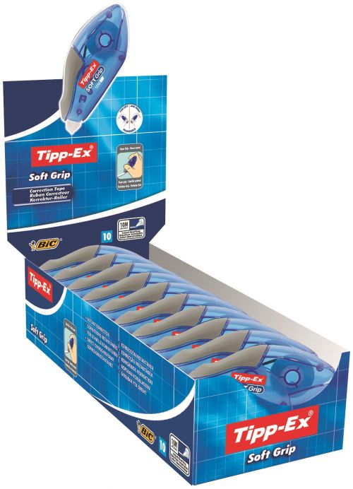 Tipp-Ex Soft Grip Correction Tape (Pack of 10) 895933