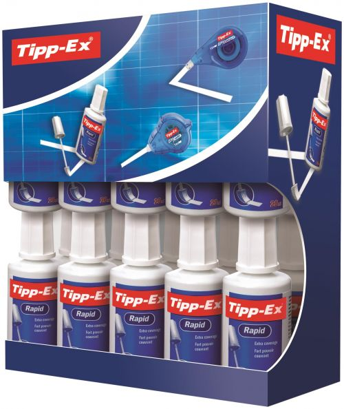 Tipp-Ex Rapid Correction Fluid Fast-drying 20ml White Ref 8959501 [Pack 15 & 5]