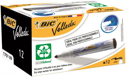 Bic Velleda 1701 Whiteboard Marker Black (Pack of 12) 1199170109