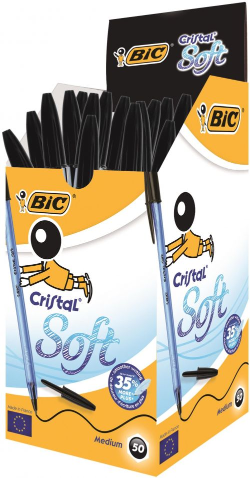 BIC Cristal Soft Ball Point Pen Black