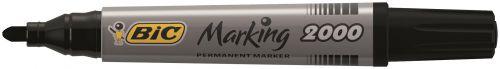 Bic 2000 Permanent Marker Bullet Tip Black (Pack of 12) 820915