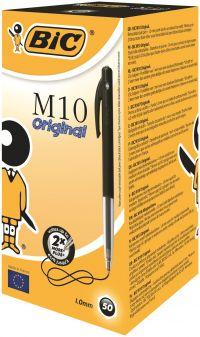 Bic M10 Clic Ballpoint Pen Medium Black (Pack of 50) 901256