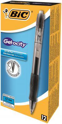 Bic Gelocity Gel Rollerball Pen Retractable Black Ref 829157 [Pack 12]