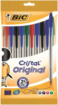 Bic Cristal Medium Assorted Ballpoint Pens (Pack of 10) 830865