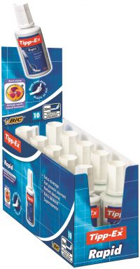 Tipp-Ex White Rapid Correction Fluid 20ml (Pack of 10) 885992
