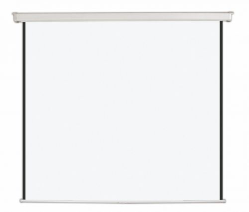 Bi-Office Wall Screen Black Border White Housing 152x152