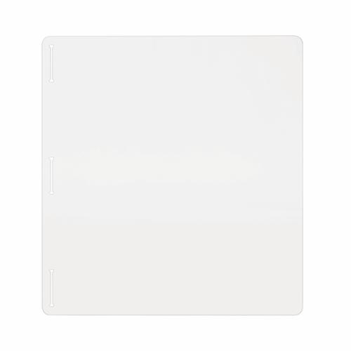 Bi-Office Acrylic Protective Divider Screen Side Panel 600x650mm Clear