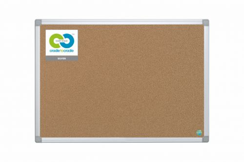 Bi-Office Earth-It Maya Cork Notice Board 120x90cm Promotional Offer Free Pack of 20 Earth Natural Wood Push Pins
