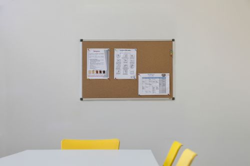 Office Corkboard Intended Bioffice Cork Board 2400x1200 Aluminium Frame Ca211170 Office Monster