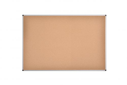 Bi-Office Maya Cork Notice Board Alu Frame 180x120cm