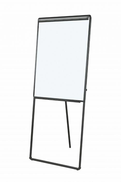 Bi-Office Footbar Flipchart Easel Magnetic 700x1000mm Black