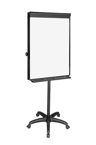 Bi-Office Vanguard Mobile Flipchart Easel Magnetic 700x1000mm Black