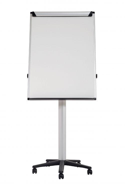 Bi-Office Earth-it Mobile Flipchart Easel Magnetic 700x1000mm Silver