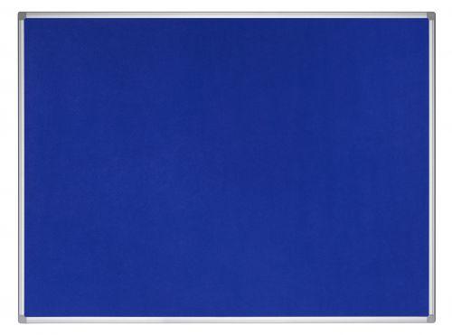 Bi-Office Earth-It Blue Felt Noticeboard Alu Frame 90x60