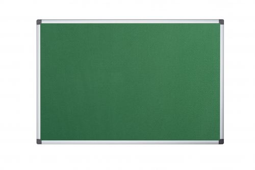 Langstane Felt Noticeboard Aluminium Frame 900x600mm Green
